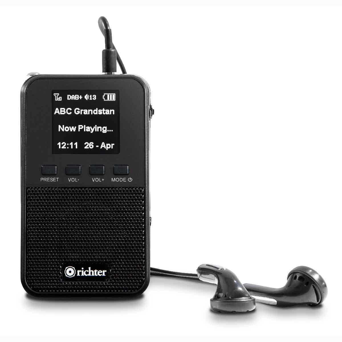 RR10 Richter Portable Pocket DAB+ Digital with Headphones
