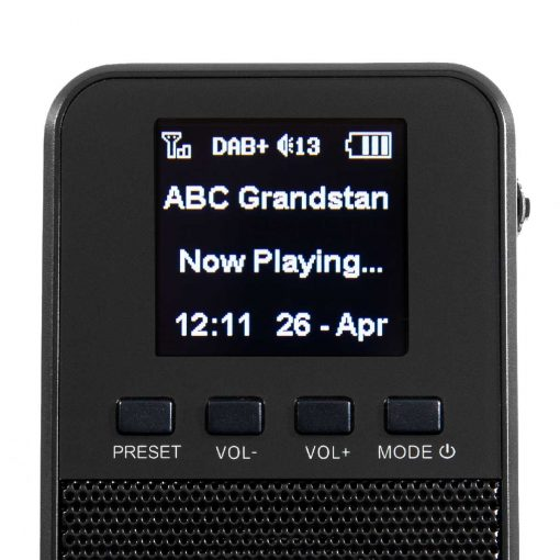 Richter Pocket Digital Radio RR10 Screen View
